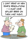 Cartoon: new years resolutions beer (small) by rmay tagged new,years,resolutions,beer