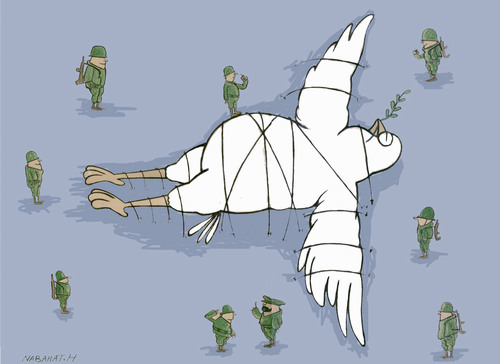 Cartoon: Bird of peace (medium) by HAMED NABAHAT tagged bird,of,peace