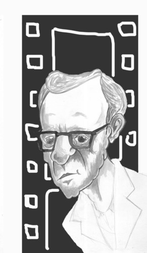 Cartoon: Woody Allen (medium) by HAMED NABAHAT tagged woody,allen